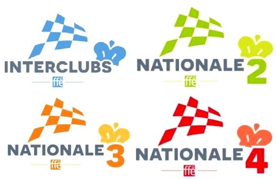 Interclubs – Nationale 2, 3 et 4 – Régionale et pré-régionales (voir compétitions)